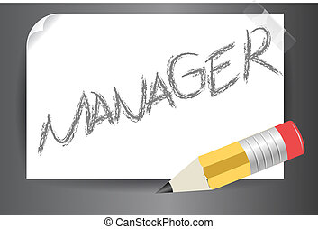 manager text written on post it vector