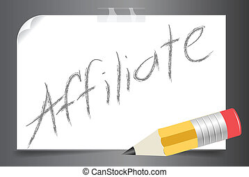 posted affiliate vector - Posted affiliate concept written...