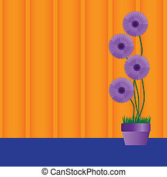 perennial daisies vector - Vector illustration of a purple...