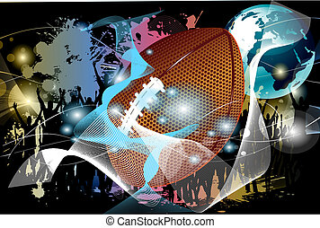 vector abstract football background - Vector illustration...