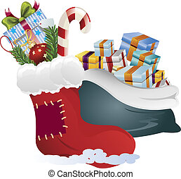 clip art of a christmas gifts
