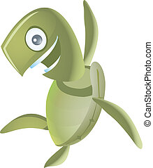 clip art of green turtle