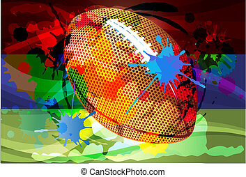 football abstract background vector - Vector illustration of...