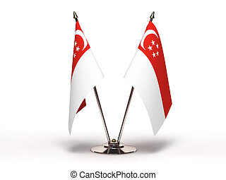 Miniature Flag of Singapore (Isolated) - Miniature Flag of...