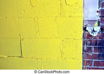 抽象的, 壁