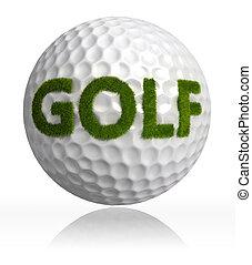 golf grass word on ball - golf green grass word on ball on...
