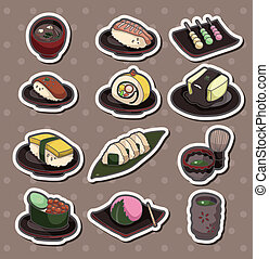 cartoon Japanese food stickers