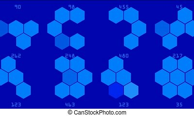Hexagon chemical molecular