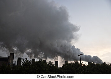 Pollution - TEPIC, NAYARITMEXICO FEBRUARY 22: Smoke from...