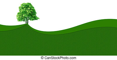 Green grass wave background - Ecology background with green...