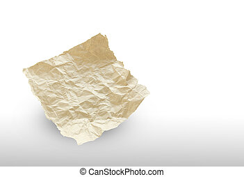 recycled paper isolated on white