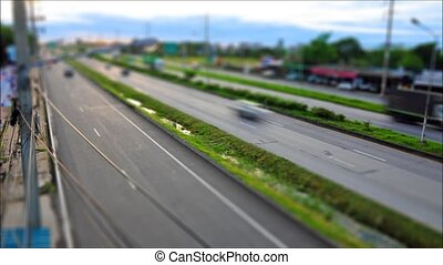 Tilt-Shift,Traffic on the road