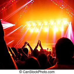 Rock concert - Image of rock concert, active people enjoying...
