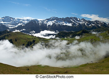 Fog in Swiss Alps