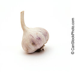 Heads of garlic isolated on a white background