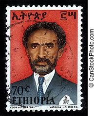 Emperor of Ethiopia Haile Selassie - ETHIOPIA - CIRCA 1958 :...