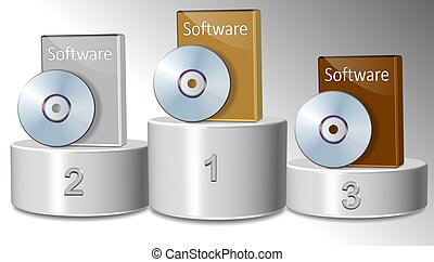 Best software - Three different software packages positioned...