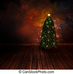 Chritmas design - Night Christmas tree