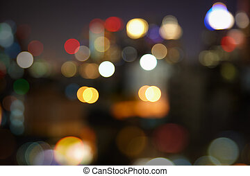 Blurred night city lights - abstract landscape