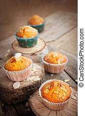 Delicious muffins - Delicious organic muffins. Almond and...