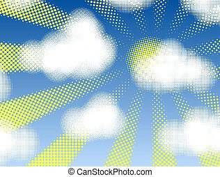 Fair weather - Design of halftone cumulus clouds and...