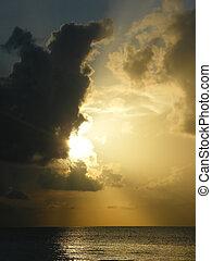 Sunrise over the ocen