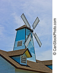 Windmill on roof