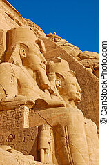 Abu Simbel temple of Rameses II in Egypt