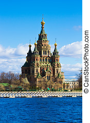 orthodox temple - photo of an orthodox cathedral in Peterhof
