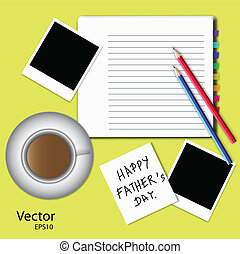 father's day - VECTOR eps10 ,Illustration of happy father's...