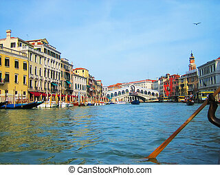 Grand Canall in Venice, Italy - Grand Canal, the most...