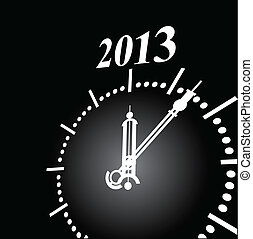 Watch New Year - Creative on the new year 2013. Vector...