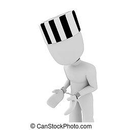 3d man handcuffed