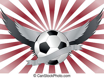 wing soccerball - illustration of soccerball with wings