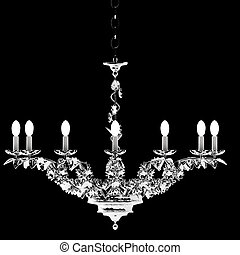 Luxury chandelier isolated on the white background....