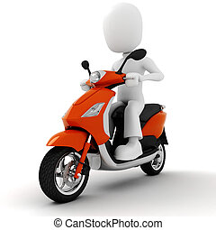 3d man on motorcycle