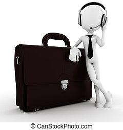 3d man, business man call center