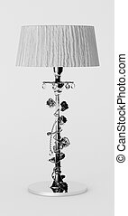 Luxury lamp standing on the white background - Luxury desk...