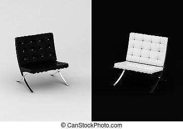 3d armchair, studio shot