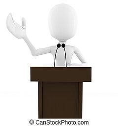 3d man podium speech