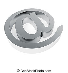 email symbol isolated on white