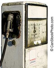 Old broken gas or petrol station pump