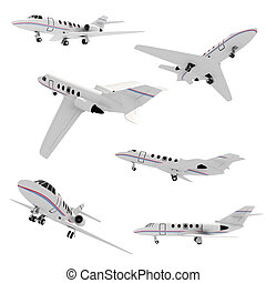 3d airplane pack on white background