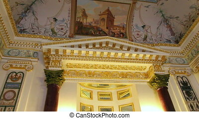 palace interior in Pavlovsk St. Petersburg Russia