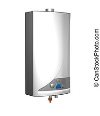 Gas boiler isolated on a white background. Including...