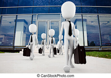 3d man business concept