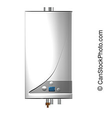 Gas boiler isolated on the white background. Including...
