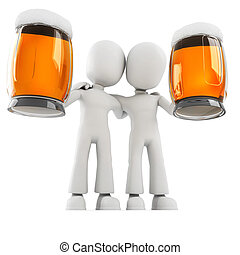 3d man and beer