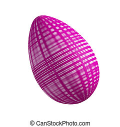 pink Easter egg - Glamour abstract pink Easter egg