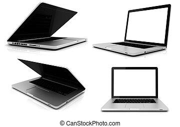 3d laptop PACK isolated on white background
